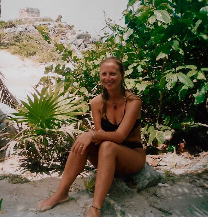 The writer in Tulum